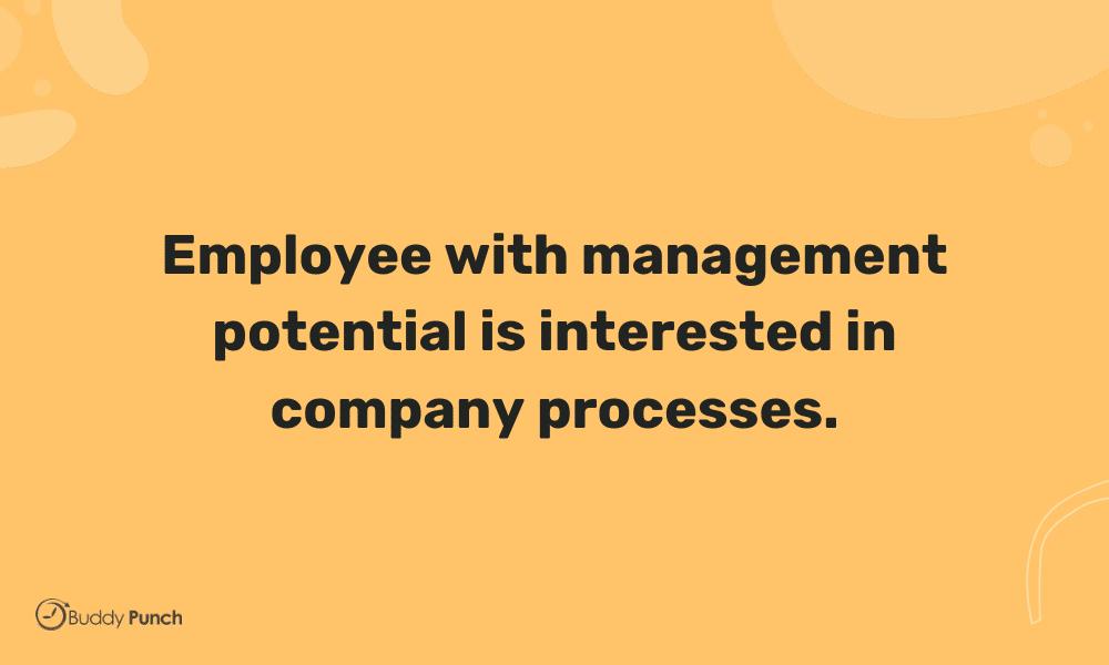 interest in company process