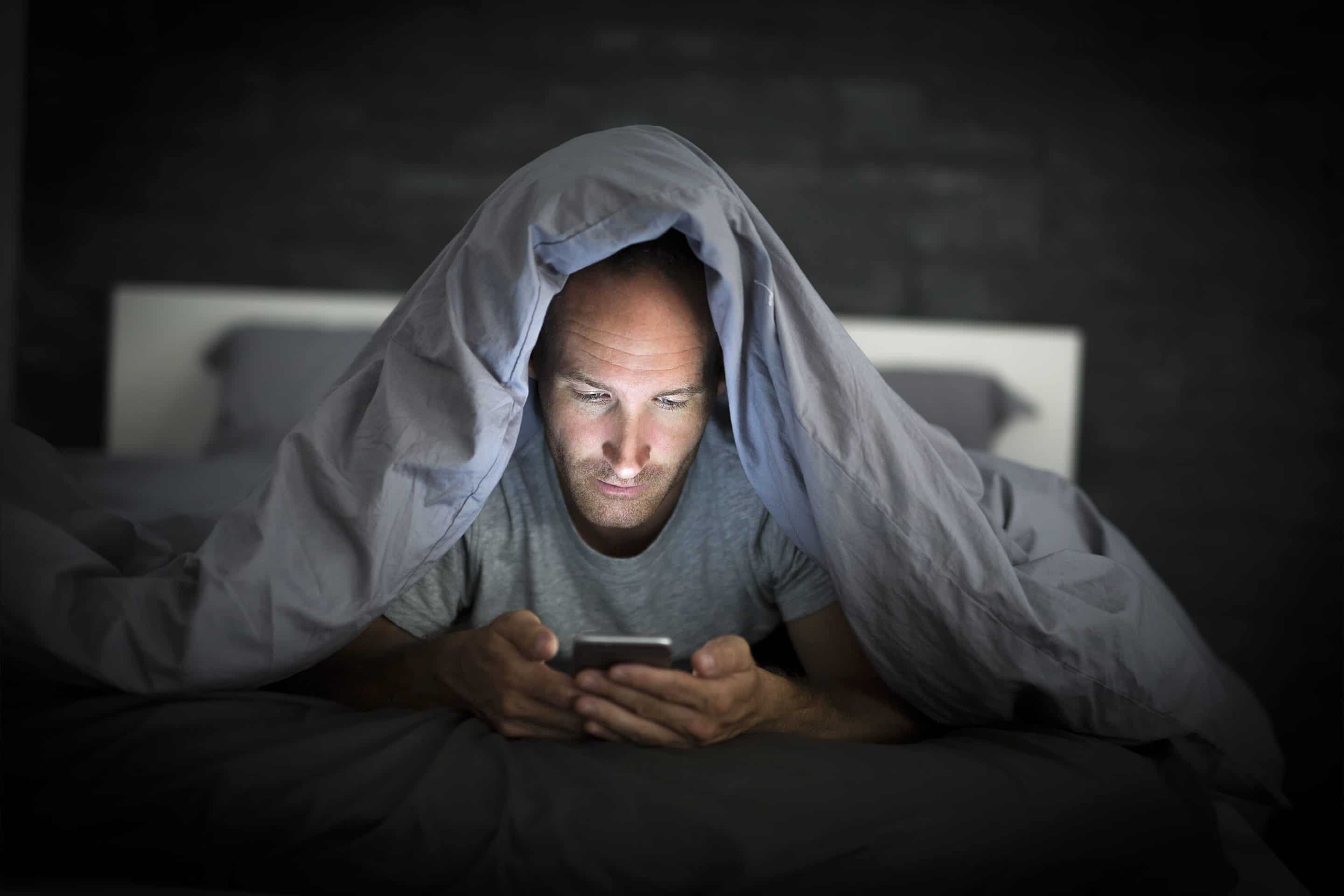 Viewing devices while in bed at night impacts the quality of your sleep and in turn reduces how productive you can be during the day.