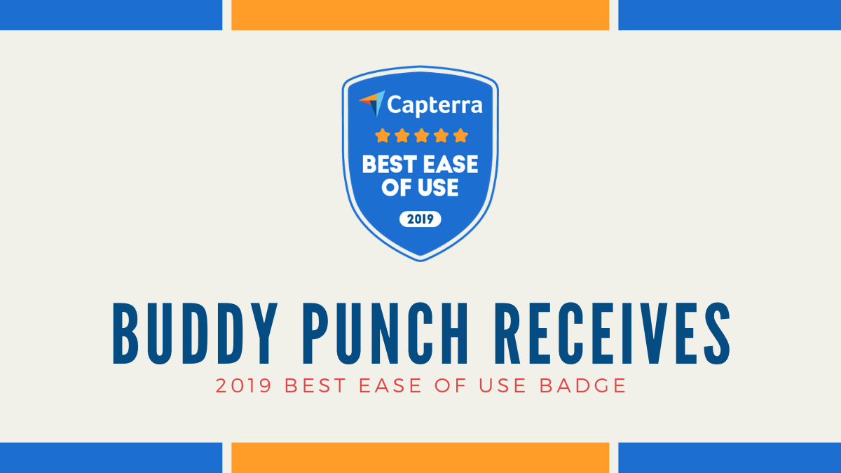 "Buddy Punch receives ""Best Ease of Use"" badge for the second year in a row!"