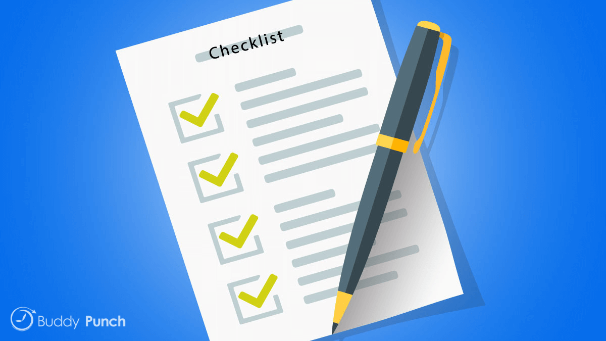 You should have a new hire checklist in place to ensure a smooth onboarding process. From teaching remote users how to access your time clock software to ensuring they have the necessary tools to complete their job.