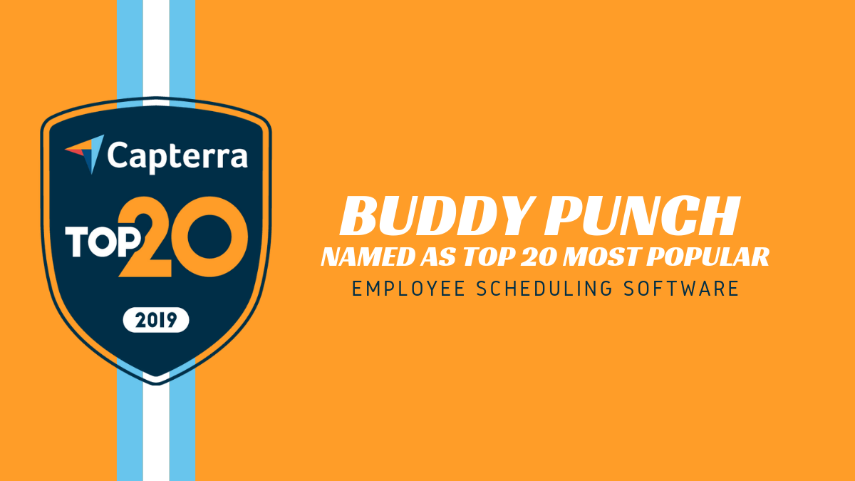 Buddy Punch Named As Top 20 Most Popular Employee Scheduling Software