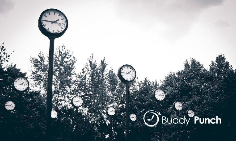 black street clock