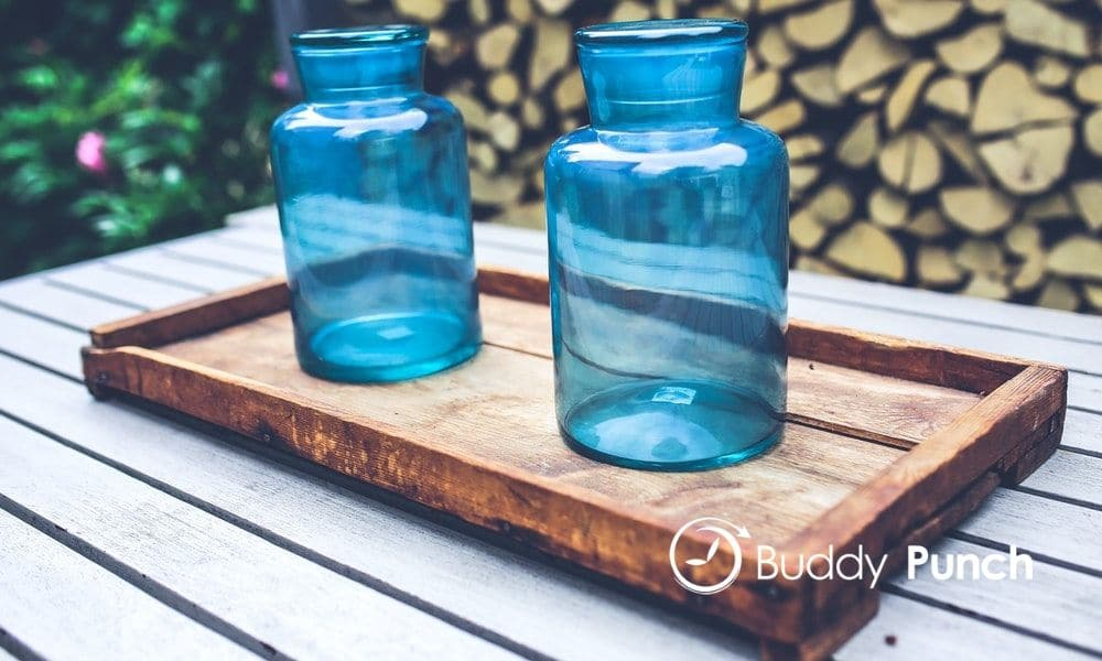 empty jars on a table