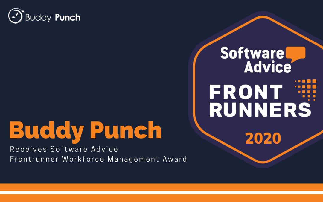 Buddy Punch Frontrunner Award 2020