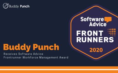 Buddy Punch Receives Workforce Management Software FrontRunner Award