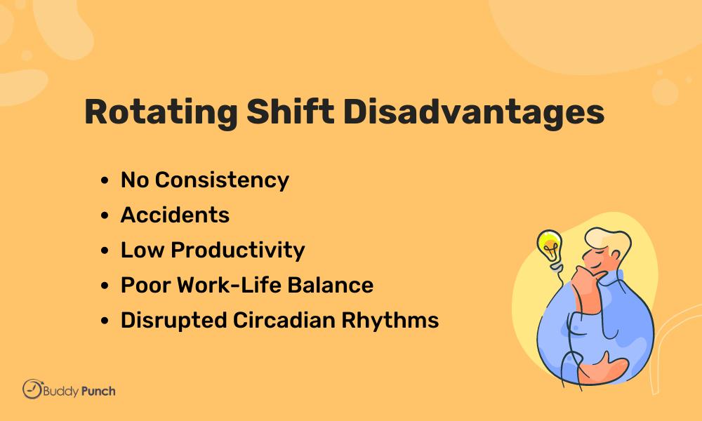 rotating shift disadvantages