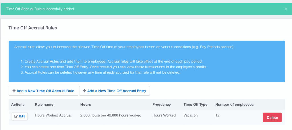 Buddy Punch's Time Accrual