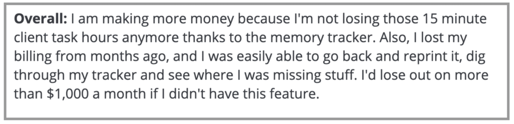 """Timely review: """"I am making more money"""""""