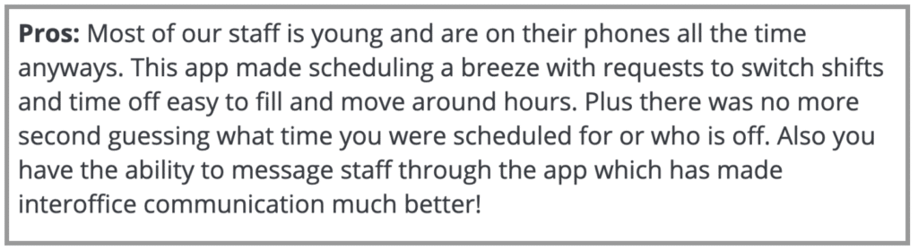 """Homebase Review: """"Made scheduling a breeze"""""""