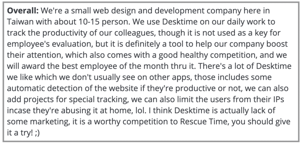 """Desktime Review: """"Daily work to track productivity"""""""