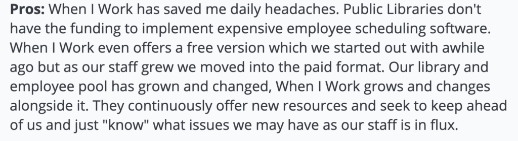 """When I Work Review: """"Employee scheduling software"""""""