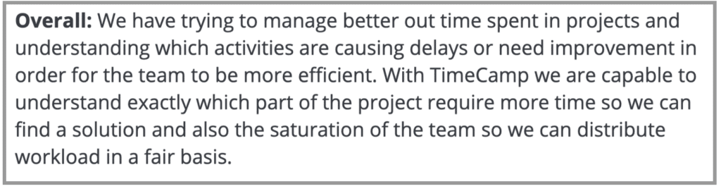 """TimeCamp Review: """"Find solutions and time spent on projects"""""""