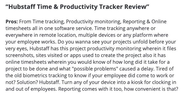 "Hubstaff review: ""Hubstaff time & productivity tracker review"""