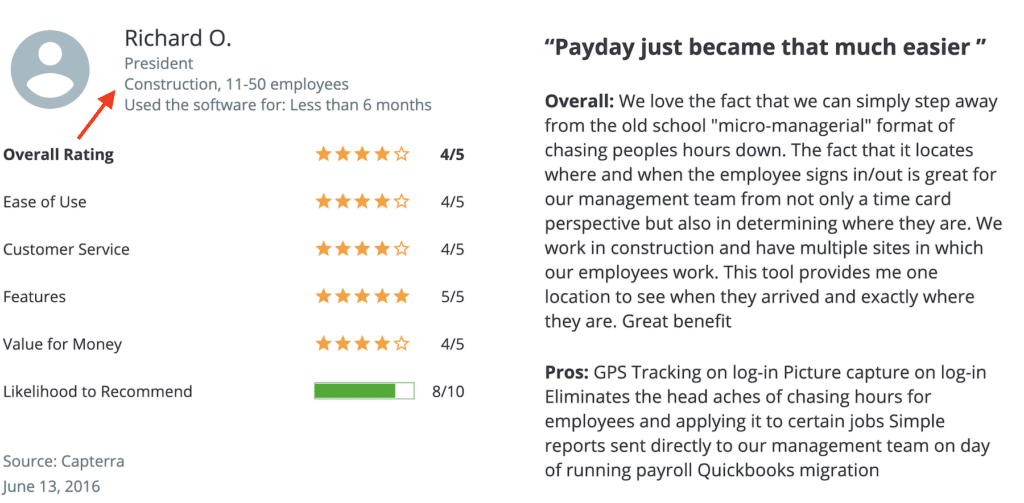 """Buddy Punch review: """"Payday just became that much easier."""" for Construction"""