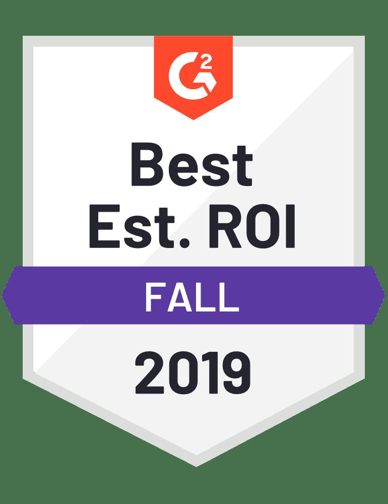 Best Est. ROI Fall 2019