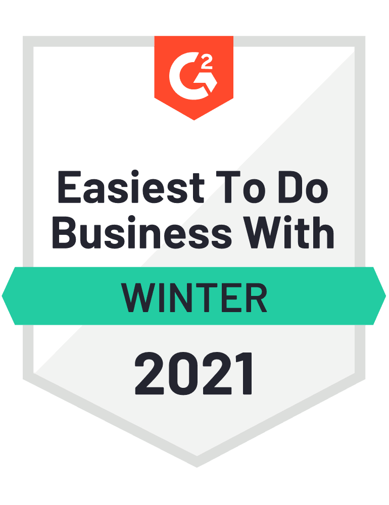 Easiest to do business with winter 2021