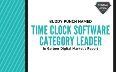 Buddy Punch Named Time Clock Software Category Leader in Gartner Digital Market's Report
