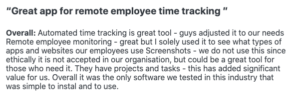 "Workpuls review: ""Great app for remote employee time tracking"""