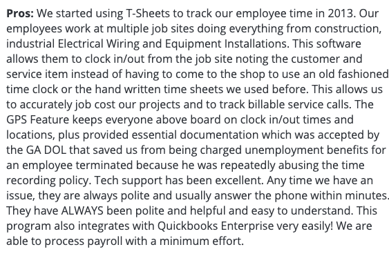 QuickBooks time review: Able to process payroll and track employee time with a minimum effort