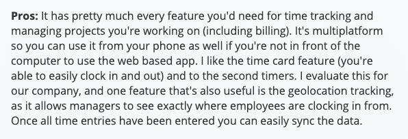 """TimeTracker review: """"Has pretty much every feature you'd need for time tracking and managing projects"""""""