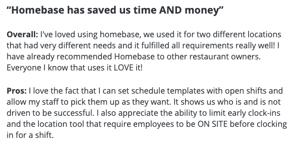 """Homebase review: """"Homebase has saved us time and money"""""""