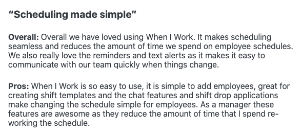 """When I Work Review: """"Scheduling made simple"""""""
