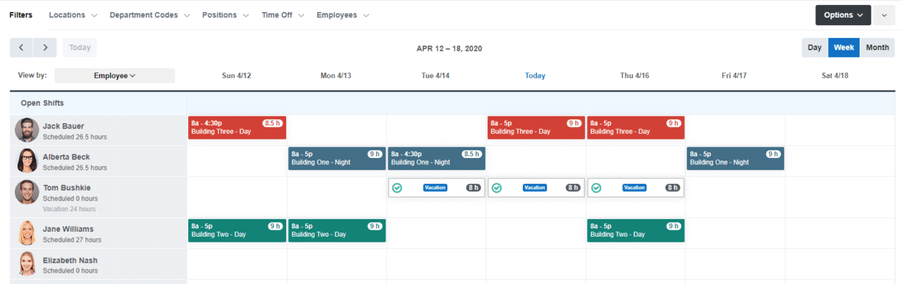 Buddy Punch: Drag and Drop Scheduling