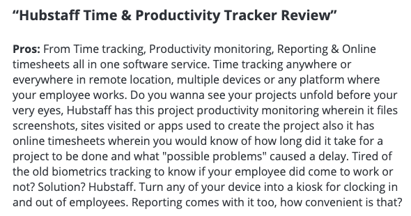 """Hubstaff review: """"Hubstaff time and productivity tracker review"""""""