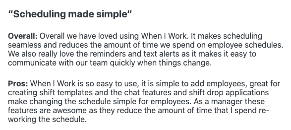 Scheduling made simple