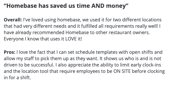 Homebase has saved us time and money