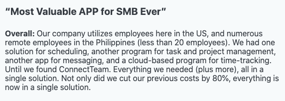 """""""Most Valuable APP for SMB Ever"""" - Review"""