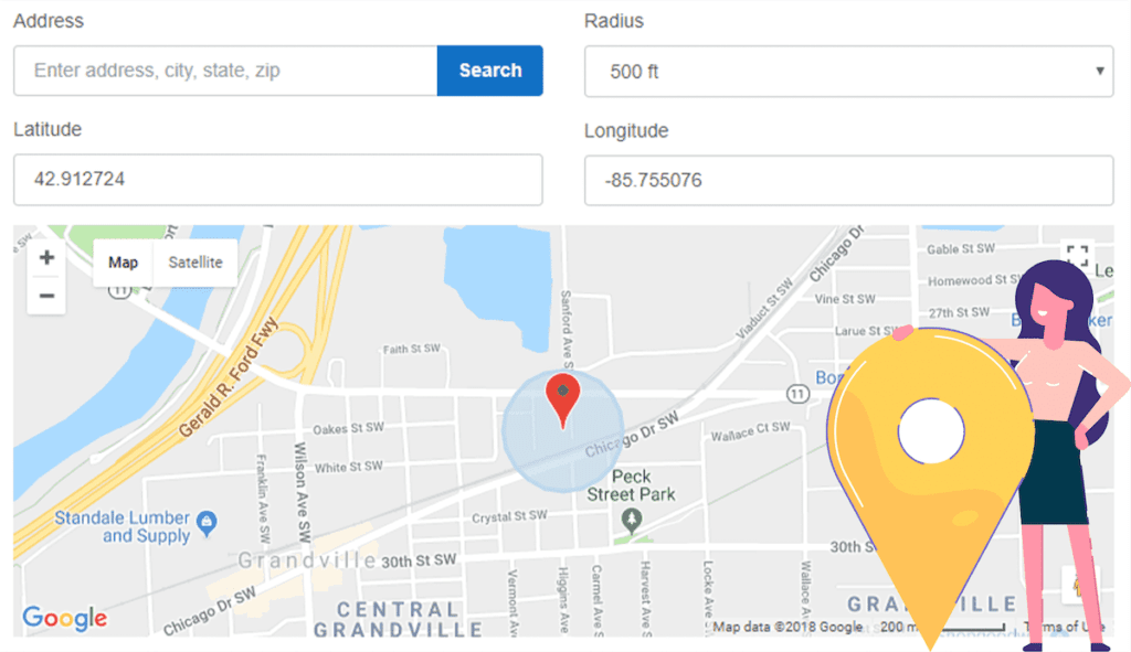 Example of geofencing