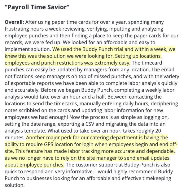 Payroll time savior.