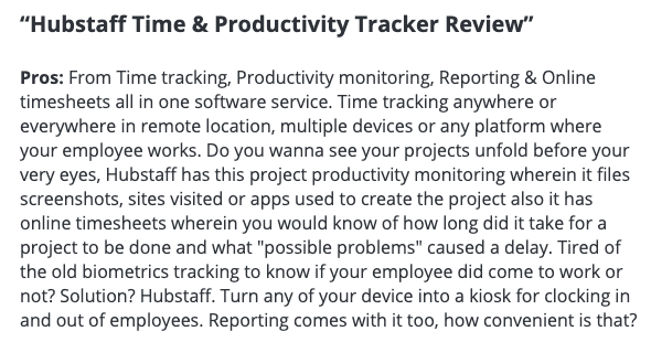 Hubstaff time and productivity tracker review.
