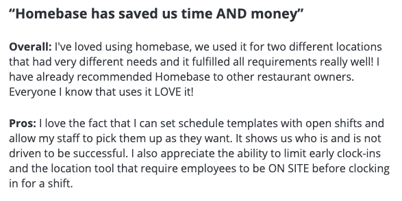 Homebase has saved us time and money.