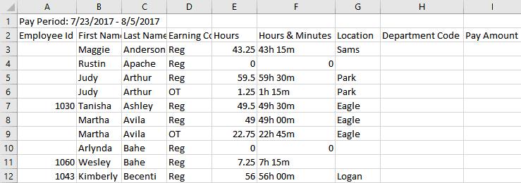 Payroll excel spreadsheet